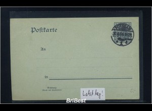 DR 1906 Interessante Ganzsache (85679)