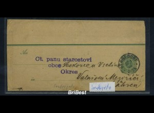 DR 1889 Interessante Ganzsache / Streifband (85694)