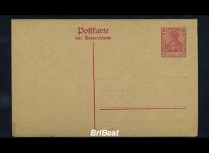 DR um 1900 Interessante Ganzsache (85708)