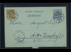 DR 1902 Interessante Ganzsache (85715)