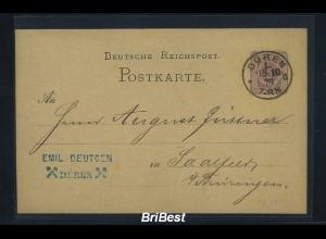 DR 1879 Interessante Ganzsache (85740)