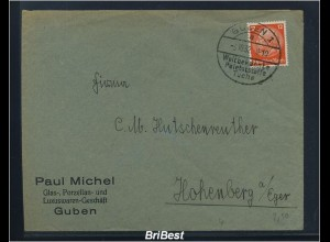 DR 1932 Interessanter Brief / Werbung (85785)