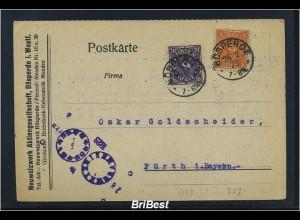 DR 1923 Interessante Karte / Uhrzeitstempel (85813)