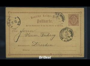 DR 1874 Interessante Ganzsache / BRAUNSCHWEIG (85820)