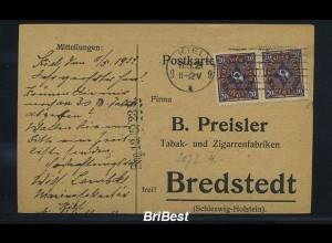 DR 1923 Interessante Karte / waag. Paar (85822)
