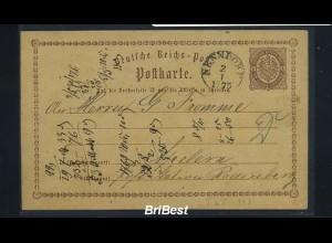 DR 1875 Interessante Ganzsache / NENNDORF (85836)
