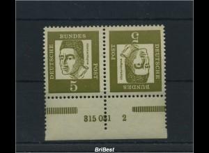 BUND 1963 K2 mit HAN sauber postfrisch (86109)