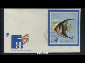 KAMBODSCHA 1999 Block FISCHE auf FDC (86190)