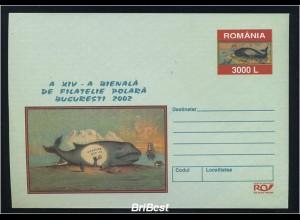 RUMAENIEN 2002 Ganzsache FISCHE postfrisch (86194)