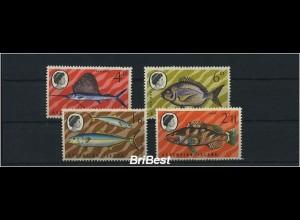 ASCENSION 1969 Satz FISCHE postfrisch (86227)