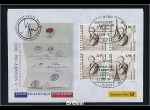 BUND 1998 Viererblock-Schmuck ersttagsbrief (86301)
