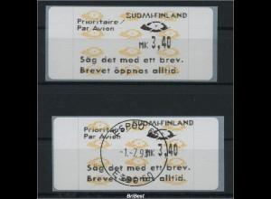FINNLAND 1992 ATM Nr 12.7 Z6 postfr.+gestempelt (86393)