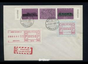 SCHWEIZ 1981 Automatenmarken auf Brief (86394)