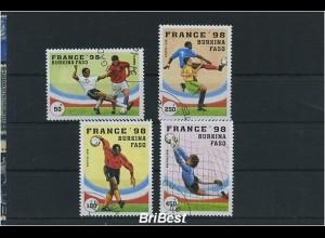 BURKINA FASO 1998 Satz gestempelt FUSSBALL (86450)