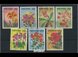 GUINEA-BISSAU 1983 Satz gestempelt BLUMEN (86464)