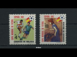 SPANIEN 1982 Satz postfrisch FUSSBALL (86509)
