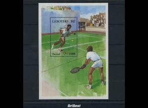 LESOTHO 1988 Block postfrisch TENNIS (86528)