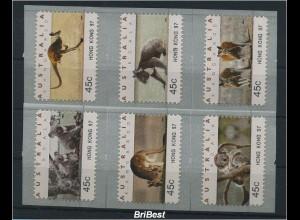 AUSTRALIEN 1994 ATM Nr 40-45 HONG KONG 97 (86615)