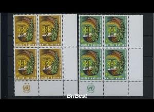 UNO NEW YORK 1977 Nr 313-14 4er Block postfrisch (86638)