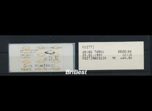 FINNLAND 1992 ATM Nr 12.4 Z4 postfrisch ME 18.- (86690)