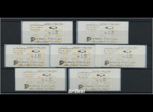 FINNLAND 1992 ATM 7x Nr 12.3 Z3 postfrisch (86691)