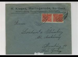 DR 1922 interessanter Brief mit Bahnpoststempel (86729)