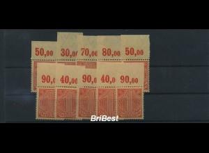 DEUTSCHES REICH 1920 10x Nr D30 OR postfrisch ME 15.- (86732)