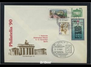 DDR 1990 interess. Beleg mit Stempel 31.12.1990 (86738)