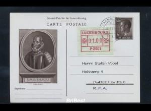 LUXEMBURG 1983 ATM Nr 1 auf Ganzsache FDC (86744)
