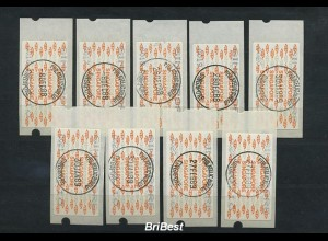 SINGAPUR 1988 ATM Nr 1 Serie gestempelt ME 9.- (86746)