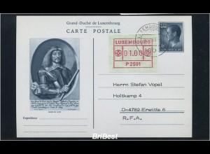 LUXEMBURG 1983 ATM Nr 1 auf Ganzsache FDC (86747)