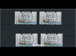 PORTUGAL 1995 ATM Nr 10 Satz S4 gestempelt (86751)