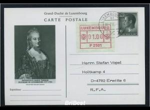 LUXEMBURG 1983 ATM Nr 1 auf Ganzsache FDC (86754)