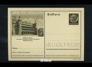 DR 1934 Ganzsache P236 DRUCKPROBE postfrisch (86820)