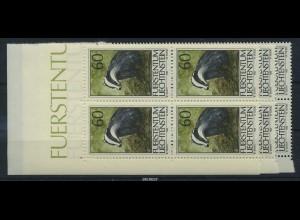 LIECHTENSTEIN 1993 Nr 1066-68 Viererblock postfr (87253)