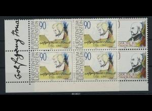 LIECHTENSTEIN 1991 Nr 1013-1014 Viererblock postfr (87258)