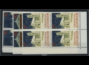 LIECHTENSTEIN 1992 Nr 1050-52 Viererblock postfr (87268)