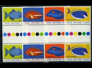 KOKOS INSELN 1996 Nr 350-353 ZS Satz postfrisch (88126)