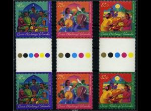 KOKOS INSELN 1996 Nr 343-345 ZS Satz postfrisch (88130)