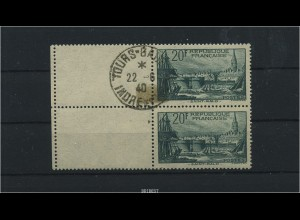 FRANKREICH 1938 2x Nr 415 Leerfeld gestempelt (88343)