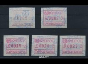 ZYPERN 1989 ATM Nr 1.1 S1 postfrisch (88485)