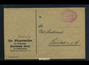 KONTROLLRAT 1946 Gebuehr Bezahlt Beleg (88622)
