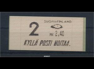 FINNLAND 1991 ATM Nr 10.1 Z2 postfrisch ME 23.- (88686)