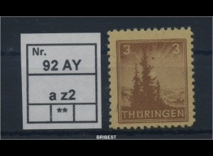 SBZ 1945 Nr 92AY z2 sauber postfrisch (88779)