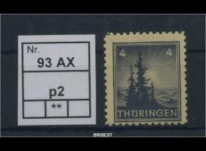SBZ 1945 Nr 93AX p2 sauber postfrisch ME 80.- (88780)