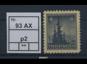 SBZ 1945 Nr 93AX p2 sauber postfrisch ME 80.- (88781)
