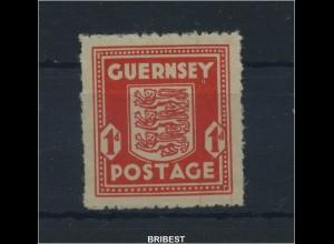 BES. IIWK. GUERNSEY 1941 Nr 2 postfrisch (89175)