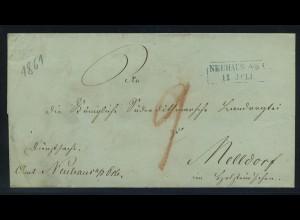 Vorphilabrief 1861 NEUHAUS ohne Inhalt (91442)