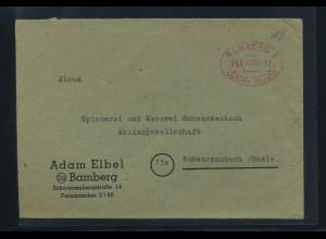 KONTROLLRAT 1945 Gebuehr Bezahlt Beleg BAMBERG (92112)