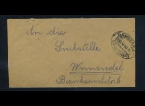 KONTROLLRAT 1946 Gebuehr Bezahlt Beleg BAMBERG (92113)